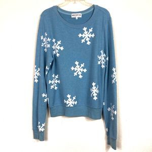 Wildfox Snowflake Baggy Beach Jumper Sweatshirt